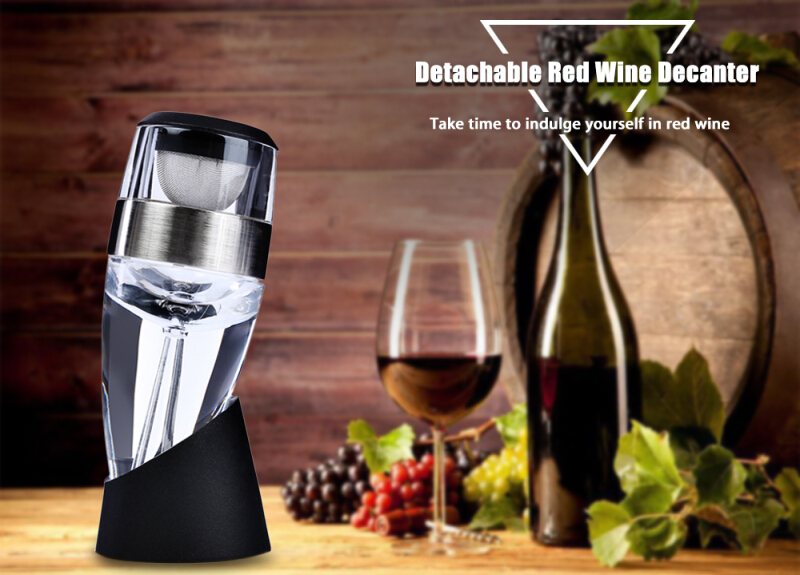 Detachable Acrylic Red Wine Decanter Aerator