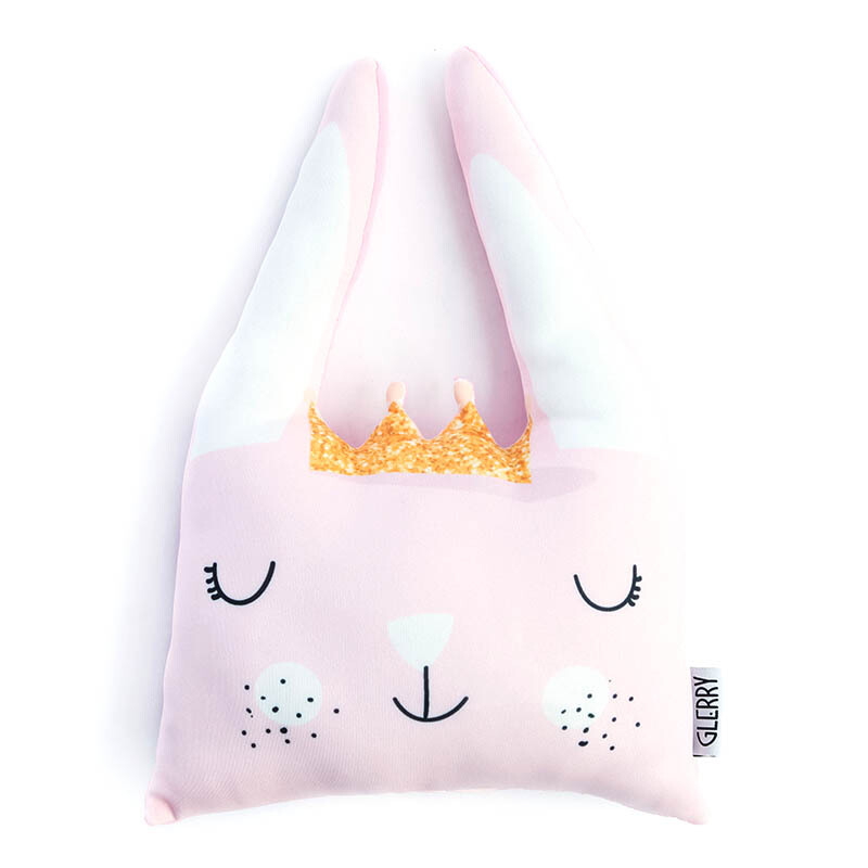 GLERRY HOME DÉCOR Queen Bunny Cushion - 30x30Cm