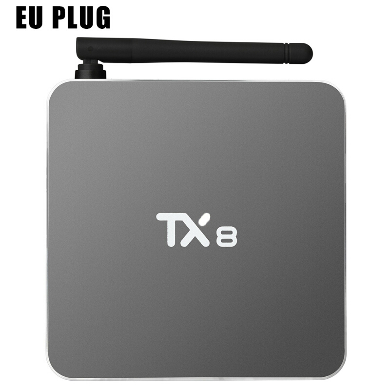 TX8 Android 6.0 TV Box with Amlogic S912 Octa Core Dual Band WiFi 2.4GHz + 5GHz Bluetooth 4.0 Mini PC EU PLUG