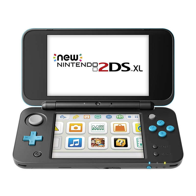 NEW NINTENDO 2DS XL - Black + Turquoise (Asia) + Free 1 Game