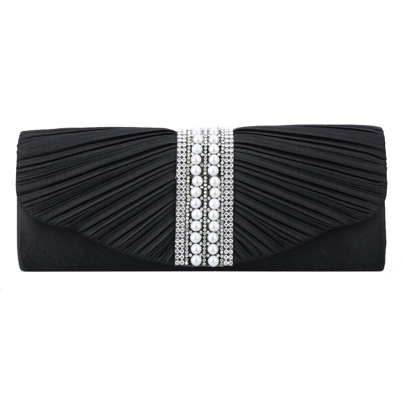 Handbag for Elegant Women Lady New Style Satin Crystal Clutch High Quality