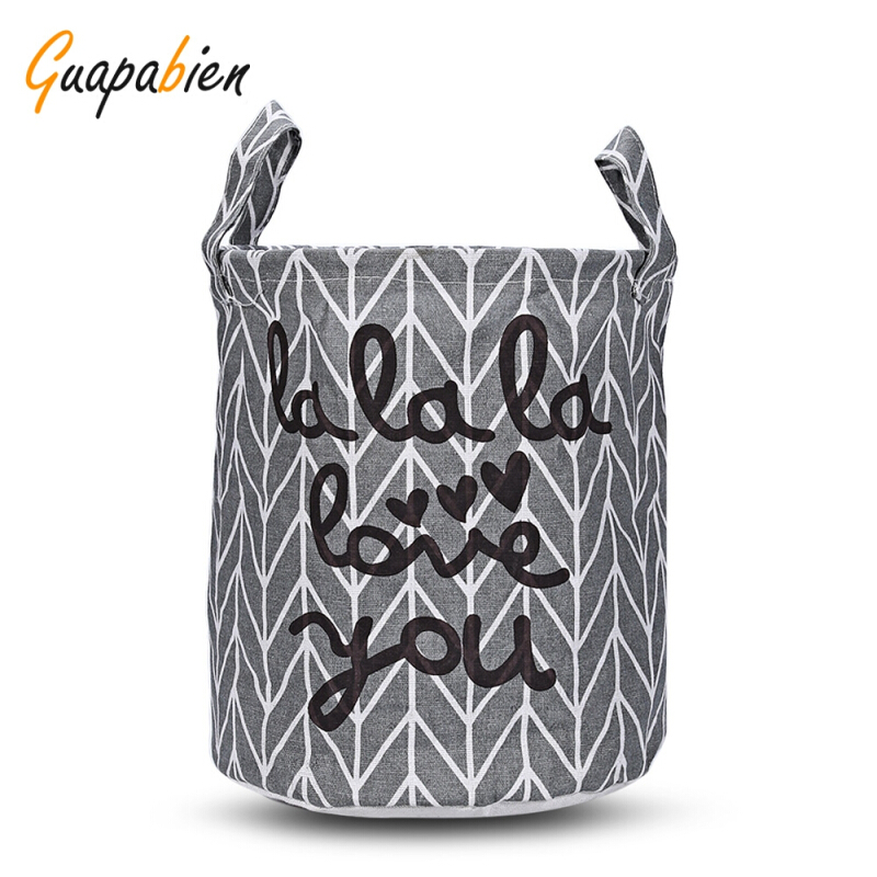Guapabien Foldable Water Resistant Storage Laundry Basket LOVE