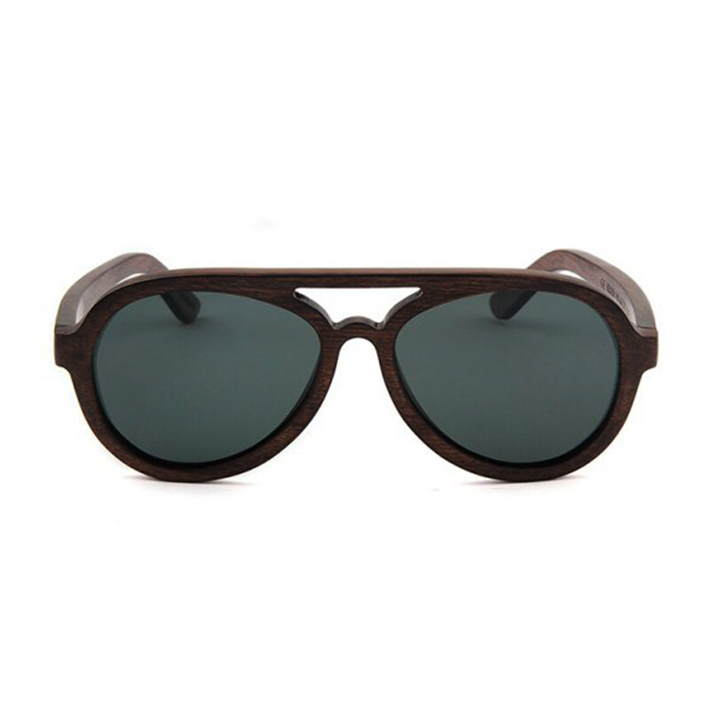 TUTU Walnut Wood Aviator Wooden Sunglasses [00021]