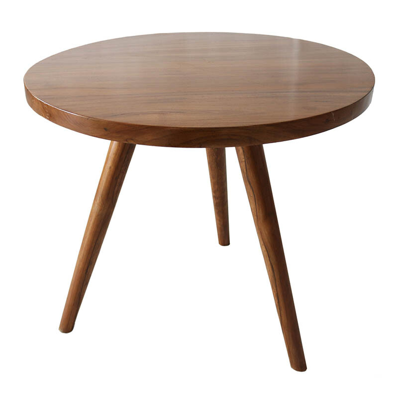 IVARO Solid Wood Tripod Round Coffe Table