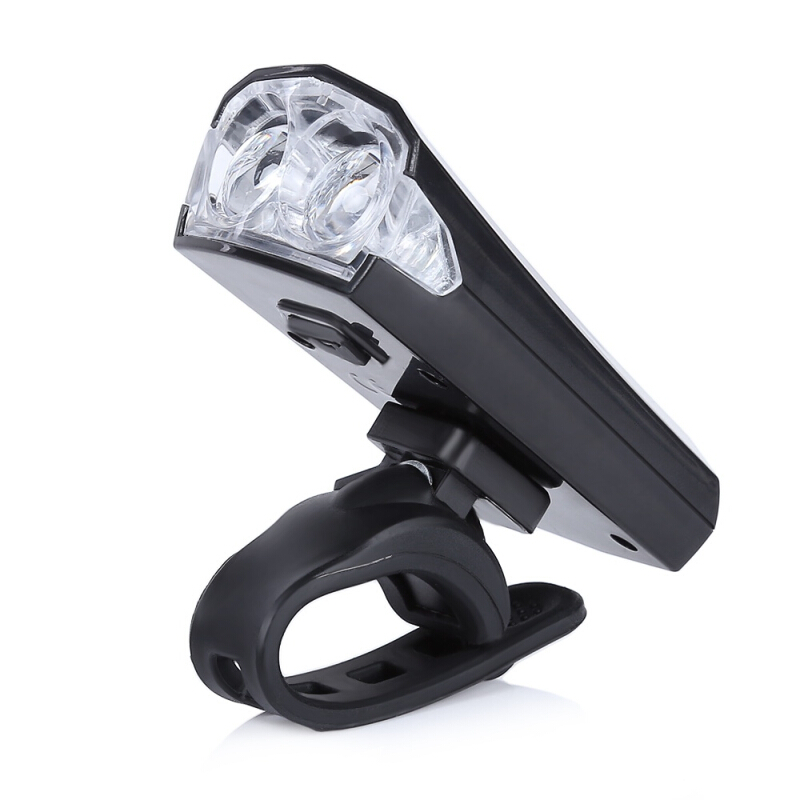 Bike Bicycle Cycling 2 LEDs Safety Water Resistant USB Rechargeable Bright Front Head Light