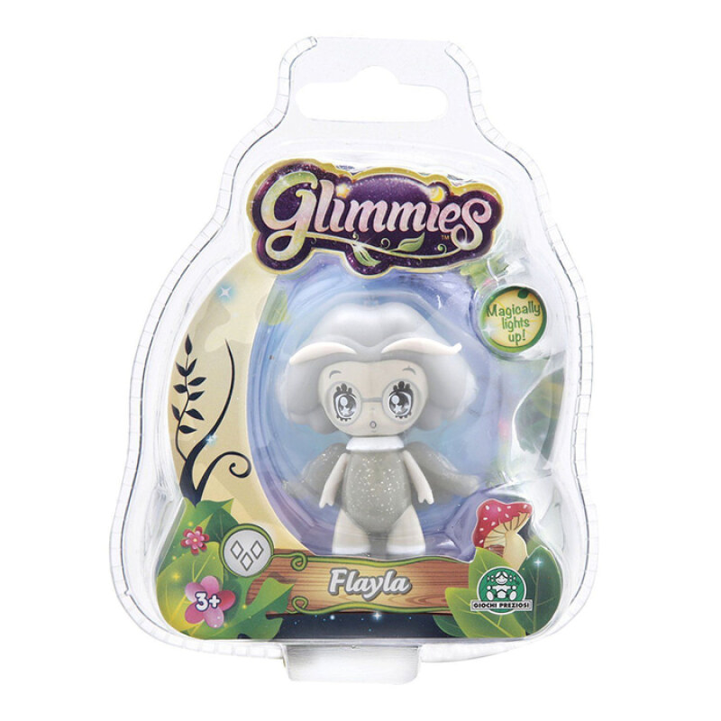 Glimmies Glow In The Dark Fairy Mini Doll Flayla Figure - 5940295 - Grey