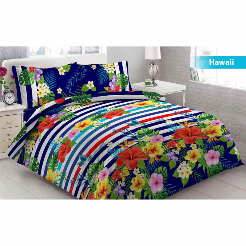 Bed Cover 3D Vito Disperse King Bantal 2 Hawai - Green