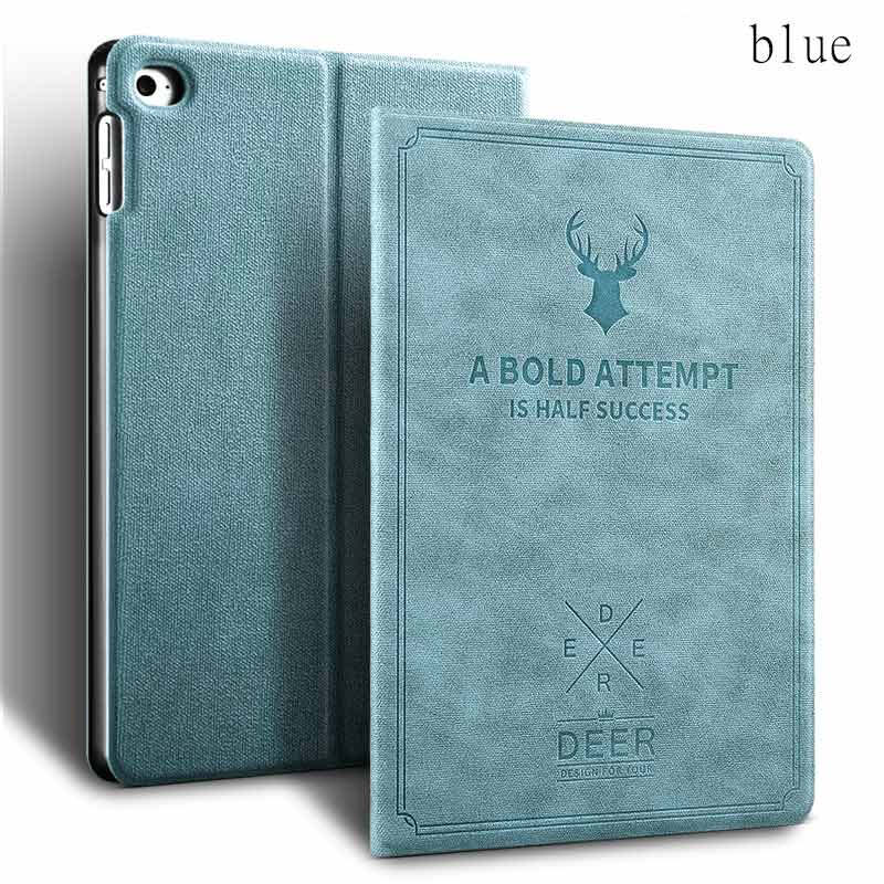 Keymao Apple NEW  iPad 2018 Luxury Flip Leather Case Stand Smart Hard Cover Blue