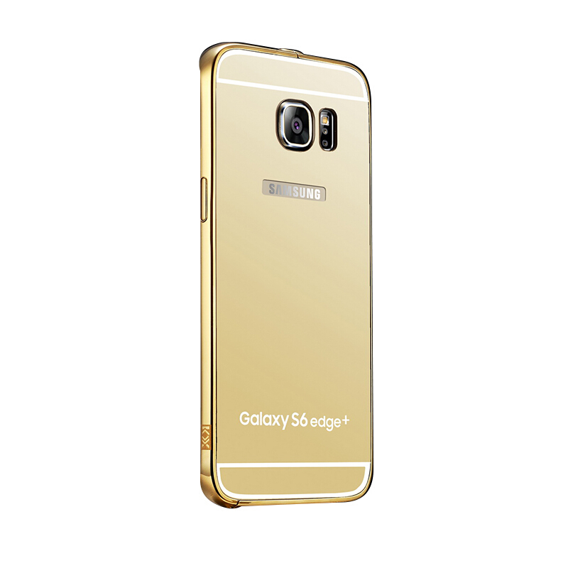 RockWolf SAMSUNG Galaxy S7 edge  case Plating mirror acrylic pressure cell phone protective shell Gold