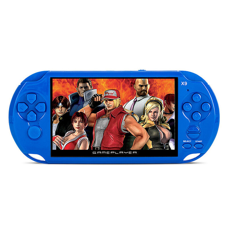 X9 Rechargeable 5.0 inch 8G Handheld Retro Game Console Video MP3 Player Camera -Blue