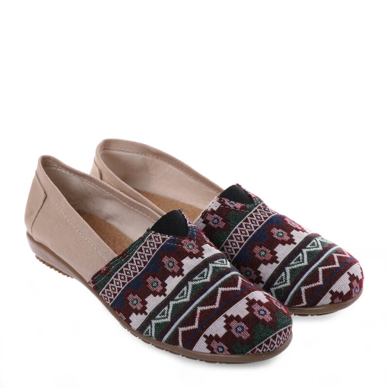 ANYOLORICH Ladies Flat Shoes B 73 - Apricot - 36