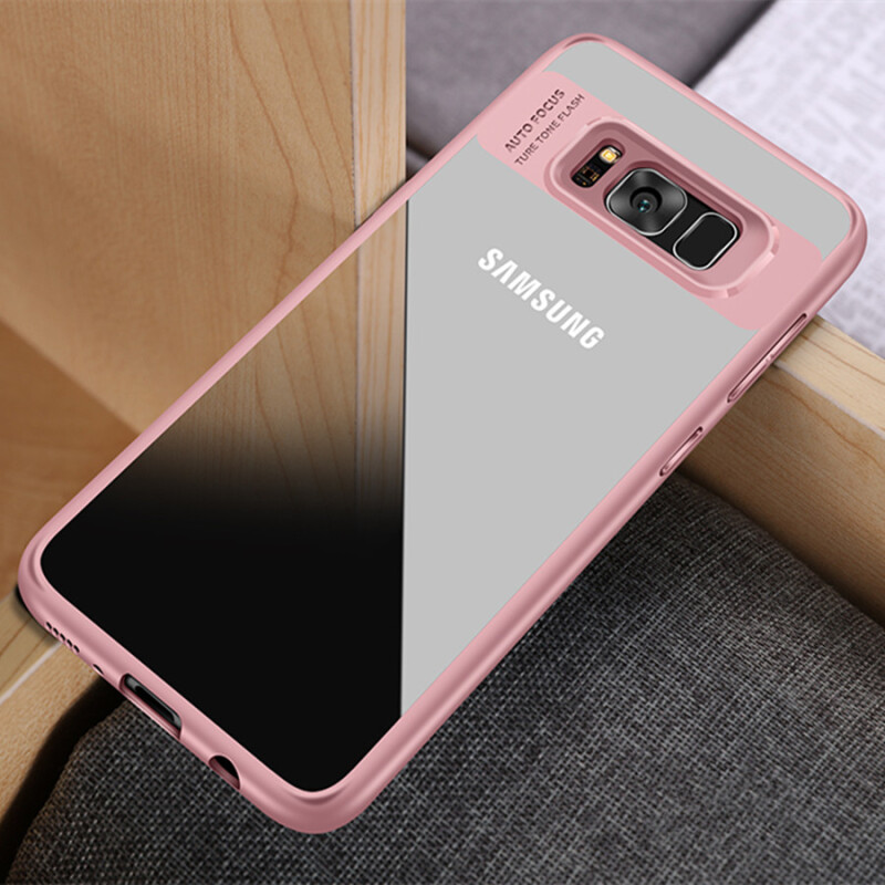 Jual Keymao Samsung Galaxy J2 Prime Case Full Protective Soft TPU Acrylic Transparent Back Cover Pink Official Store