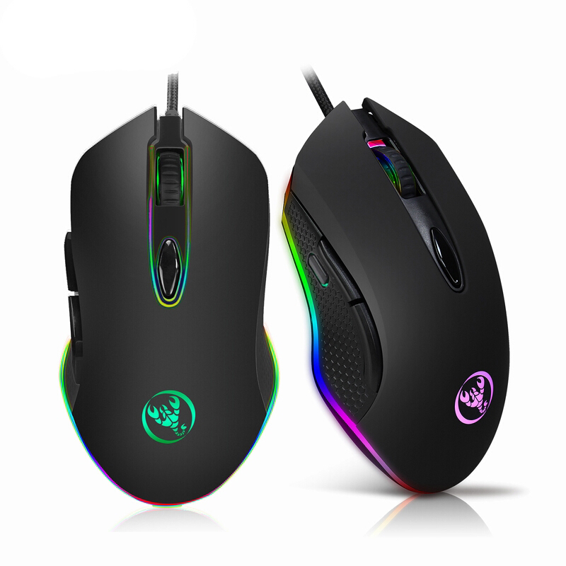 Jual HXSJ-S500 RGB Macro Definition wired Gaming Mouse