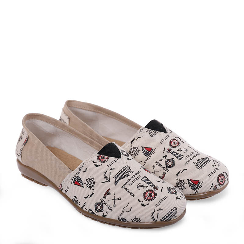ANYOLORICH Ladies Flat Shoes B 88 - Cream - 36