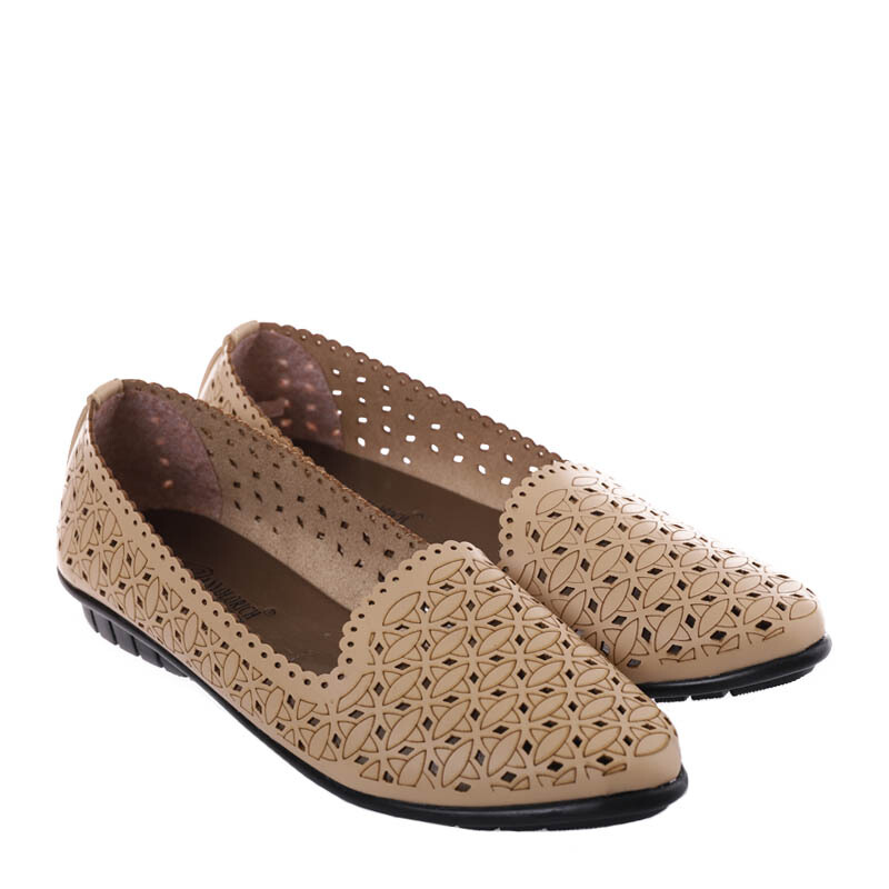 ANYOLORICH Ladies Flat Shoes SM 16 - Cream - 37