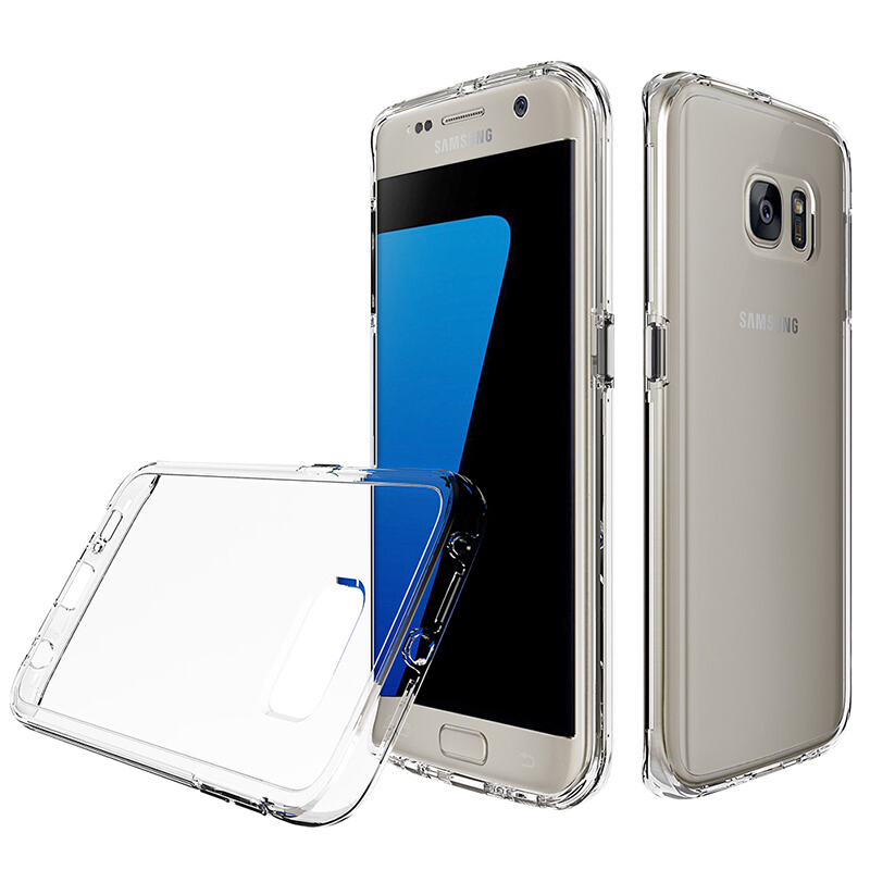 Smatton Ultra Thin Transparent Case Samsung Galaxy S7 Edge Fashion Protective Cover Soft TPU Anti Knock Soft Shockproof Shell Transparent