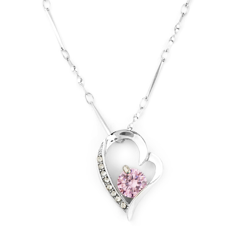 Peach heart jewelry set mode bridal set chain Silver