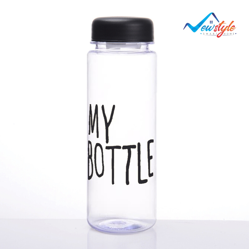 Jual LivingMall bottle botol minum plastik transparan lucu murah tumbler 500mL Multicolor Living Mall