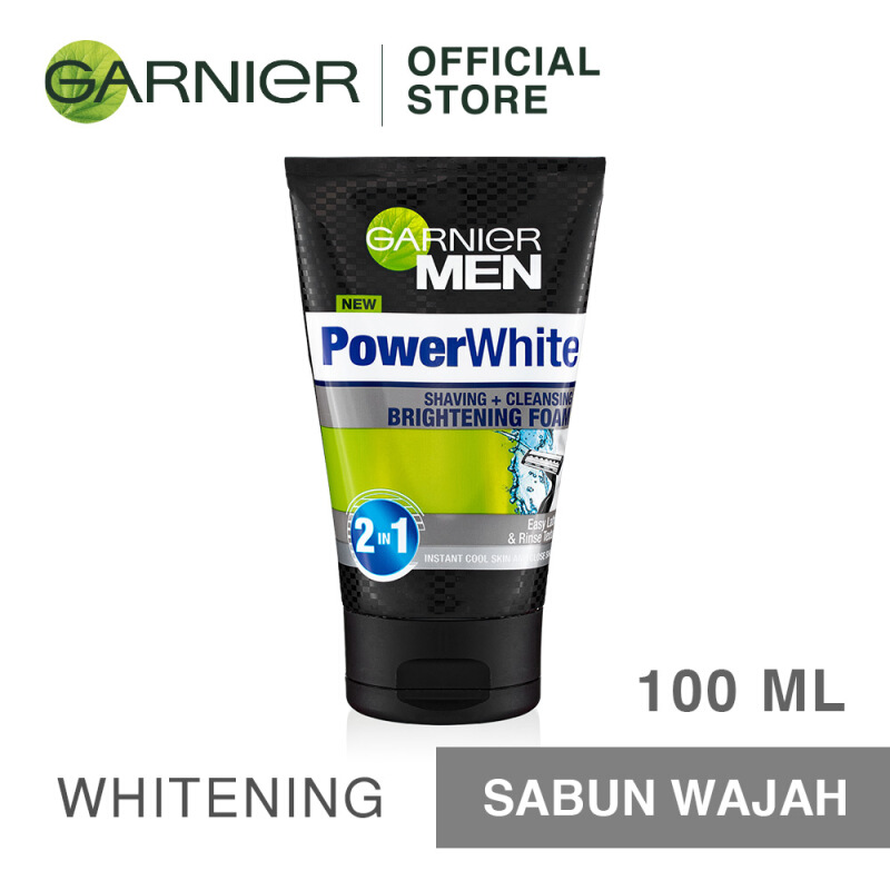 Jual GARNIER Men Power White Shaving & Cleansing Brightening Foam 100ml JD.id