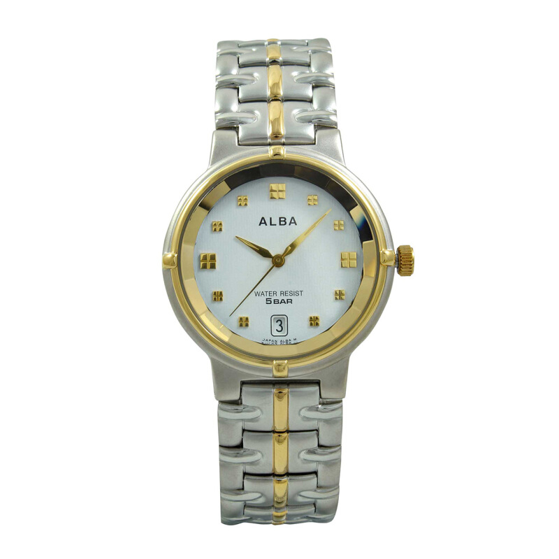 ALBA Jam Tangan Pria - Silver Gold - Stainless Steel - AXDL78