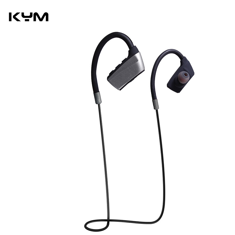 176b951926a Jual KYM HSTX10 Ear phones Back Hanging Type Sport Bass Headset V4.2 Bluetooth  Wireless Earphone Dark Grey KYM Store
