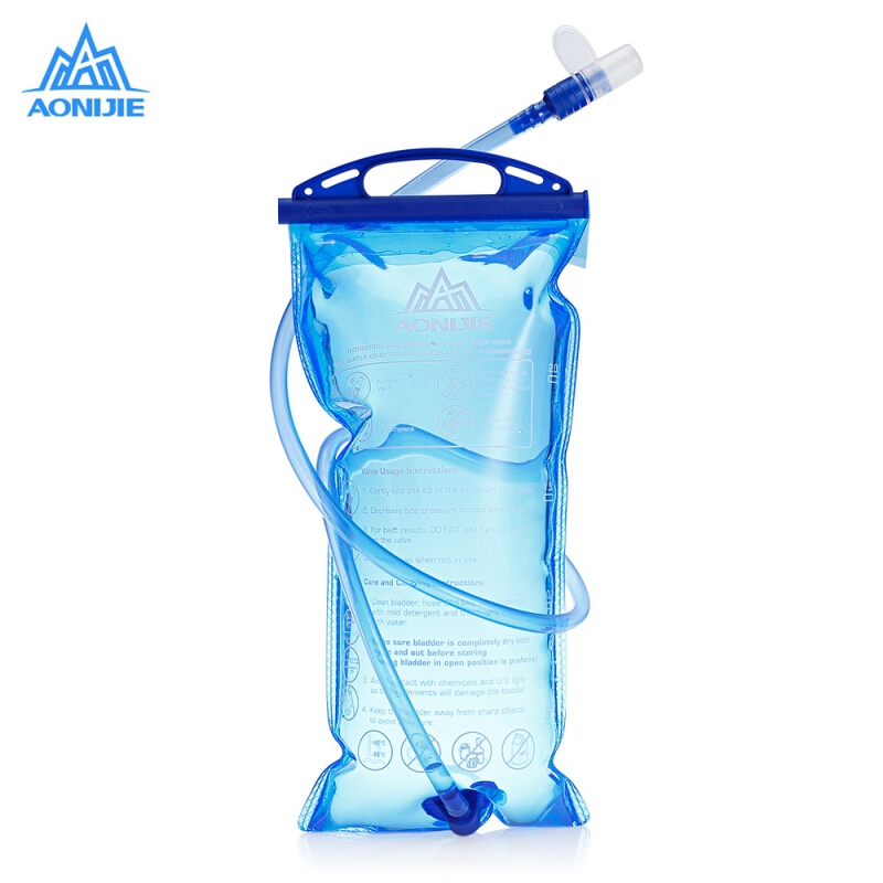 2L running//hiking Water Bag Kettle blue AONIJIE portable PEVA and ABS 1//1.5