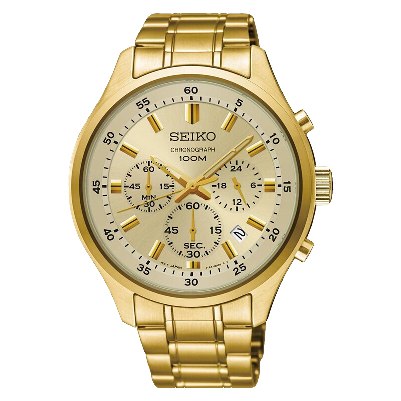 Jual Seiko Chronograph SKS592P1 Men Champagne Dial Gold Stainless Steel  Strap  SKS592P1  New Watches Store 313ea91c26