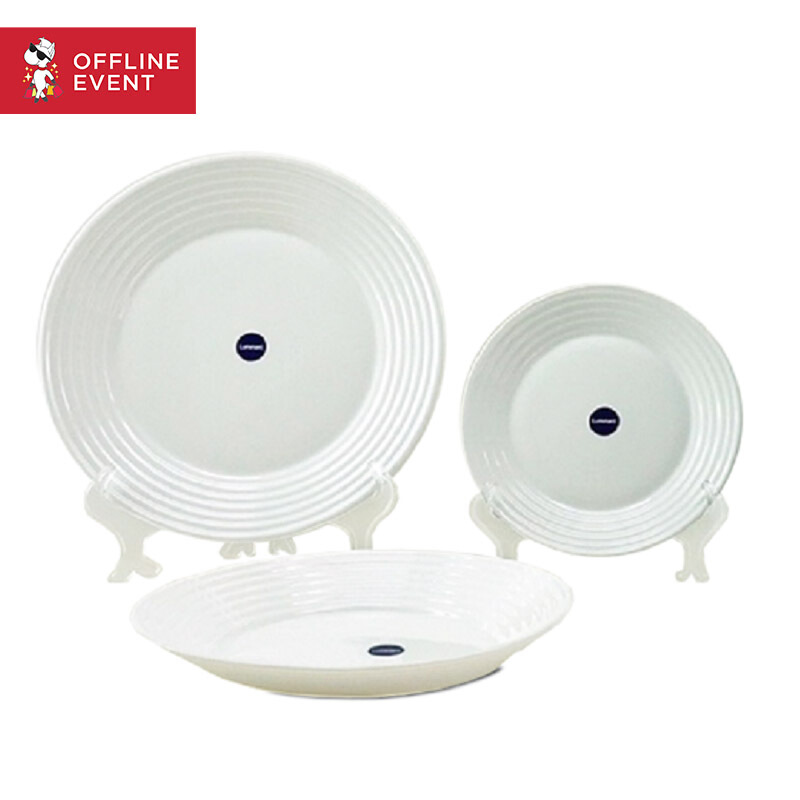 JFK0103 - LUMINARC Dinner set Harena White set of 6 - N6064