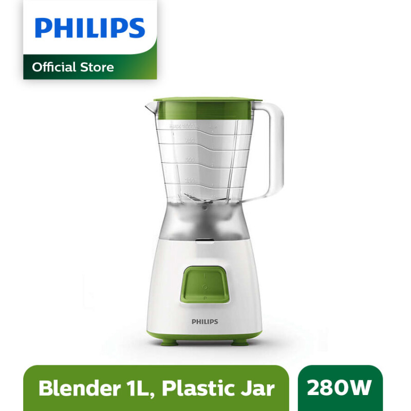 PHILIPS Blender Plastik 1.25L HR2057/03 - Hijau