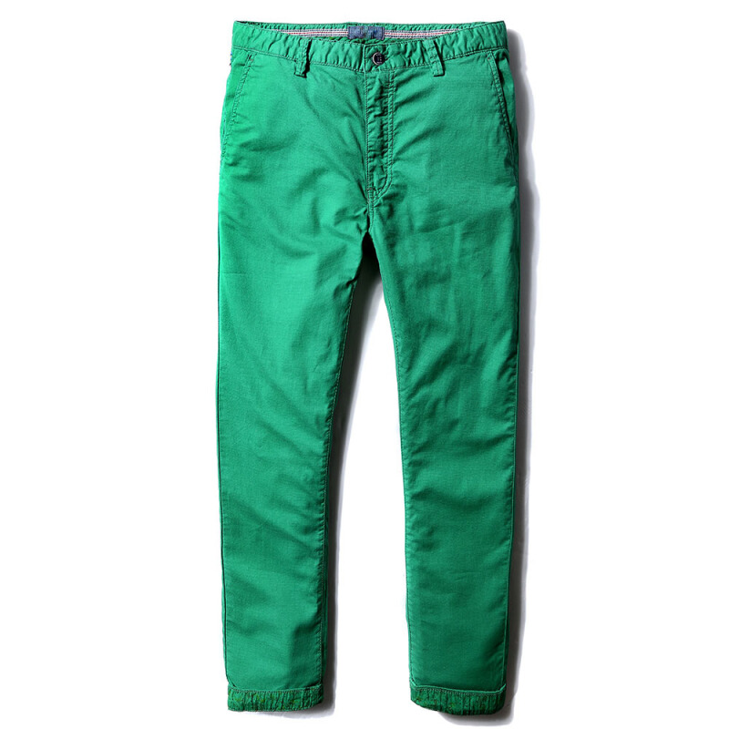 Fashionmall Chino Pants Men's Casual Pants Cotton Multi-Colors Regular Fits Plus size Cotton Trousers Green 30