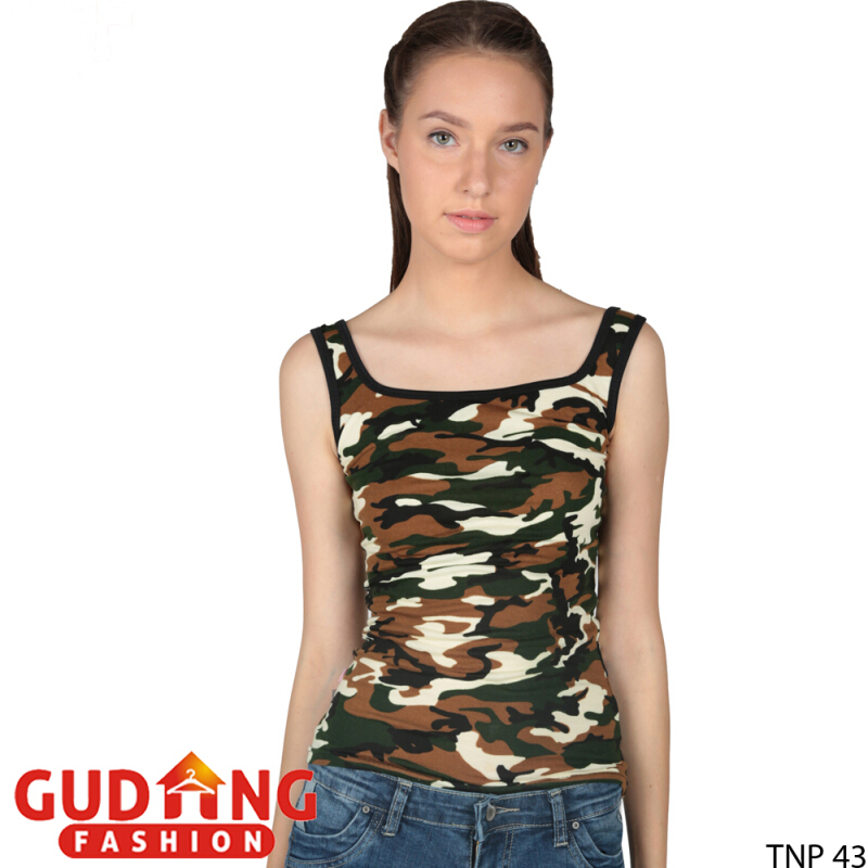 Jual Gudang Fashion Tank Top Wanita Hot - Loreng / TNP 43+A Gudang Fashion