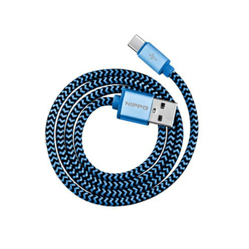 Jual Hippo Valley 2 Type C Kabel Data Charger - 100cm Blue HIPPO OFFICIAL STORE