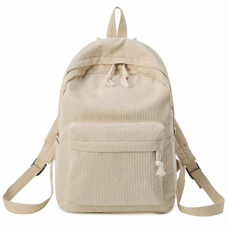 Jantens  Kavard Backpacks Women Nylon bagpack Softback Solid Bag Fashion Soft Handle mochilas mujer Escolar rucksack School Bag beige