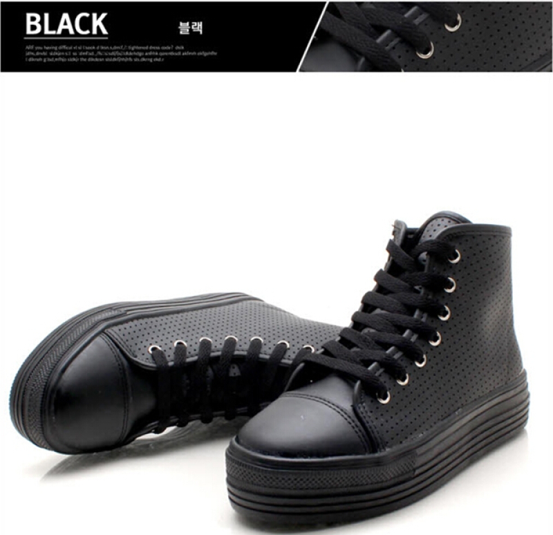 JIZ (Descendants of The Sun - Song Hye Kyo shoes) L State HighTop Black 36