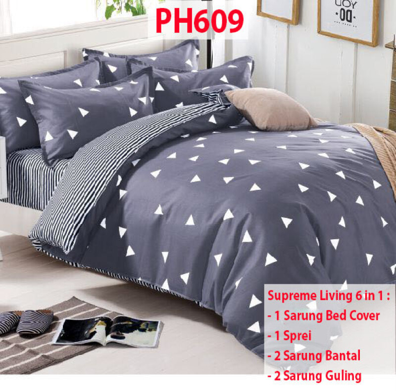 Jual Supreme Living Bed Cover Set 6 In 1 King Size 180 X 200 Cm 1