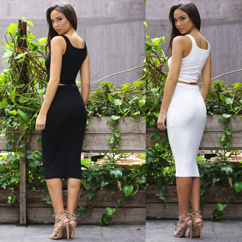 New Sexy Women Two Piece Outfits Bodycon Sexy Party Dresses