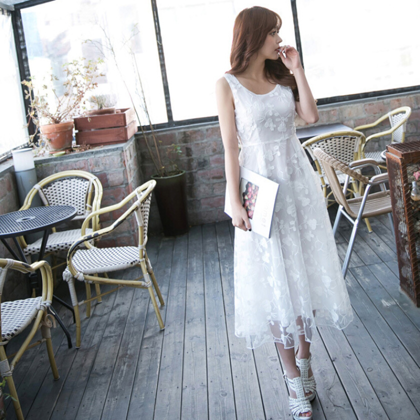 Fresh and sweet Lace White dress Dress