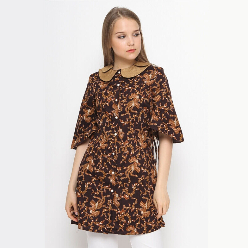 A&D Ladies Blouse Ms 790 - Brown [S]