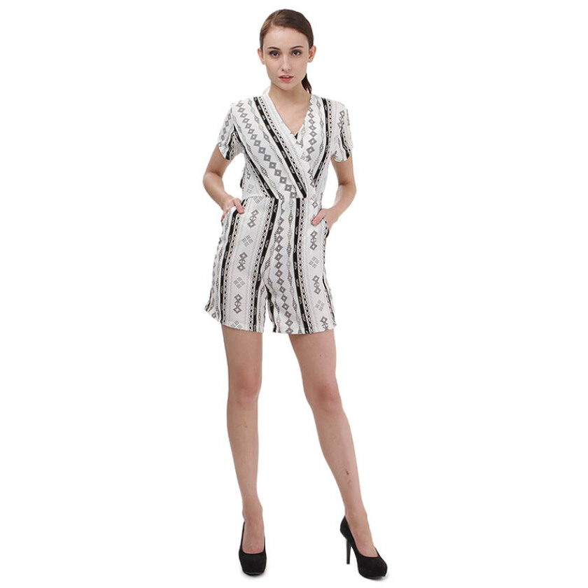 Shop At Banana Banana Premium Playsuit - White [One Size]