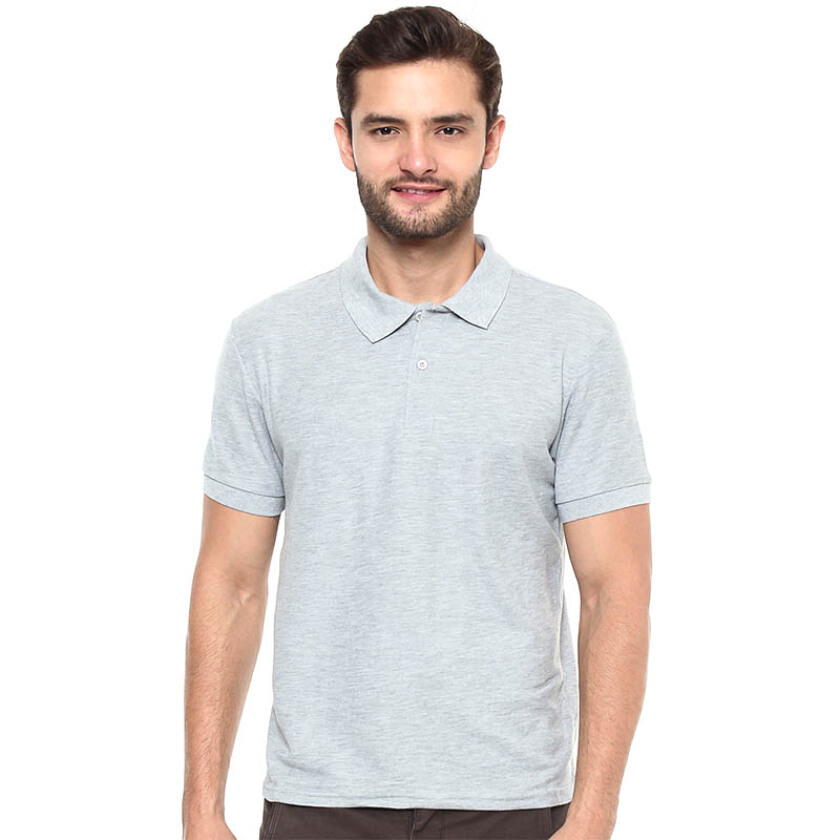 Jual stylebasics men 39 s polo shirt sport grey s for Men s athletic polo shirts