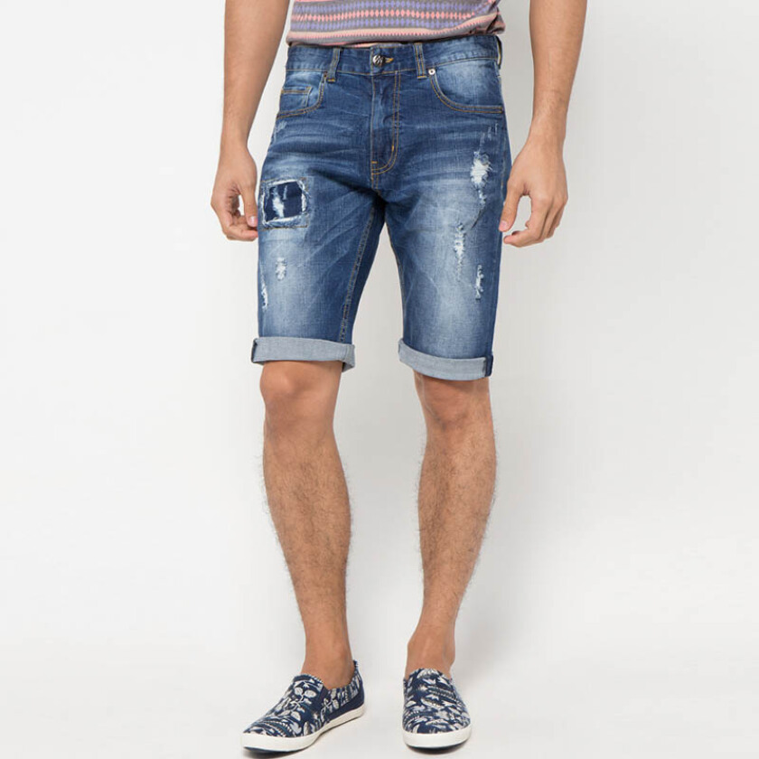 Minarno Blue Dylan Denim Shorts- Blue [29]