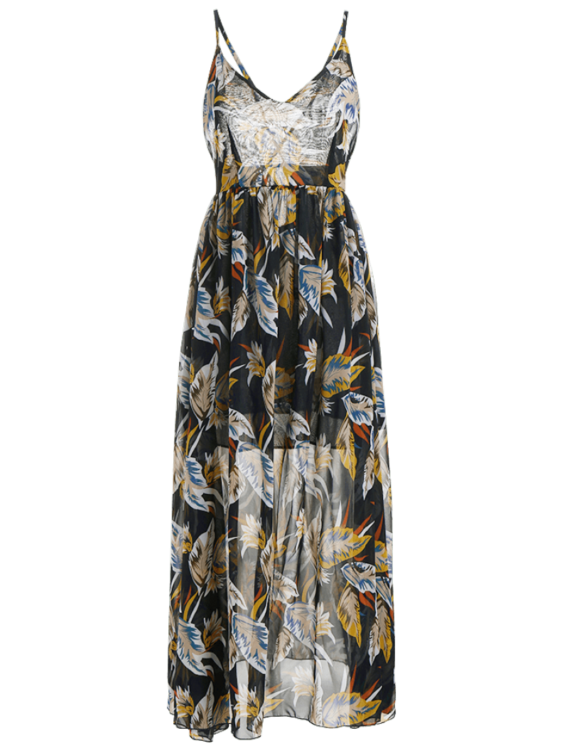 Floral Criss Cross Beach Maxi Dress