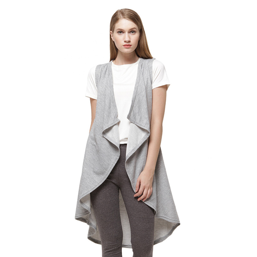 Shop At Banana Grey Velvet Vest - Grey [One Size]