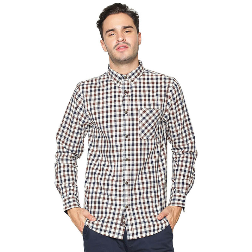 Jual FAMO Chequered Long Shirt
