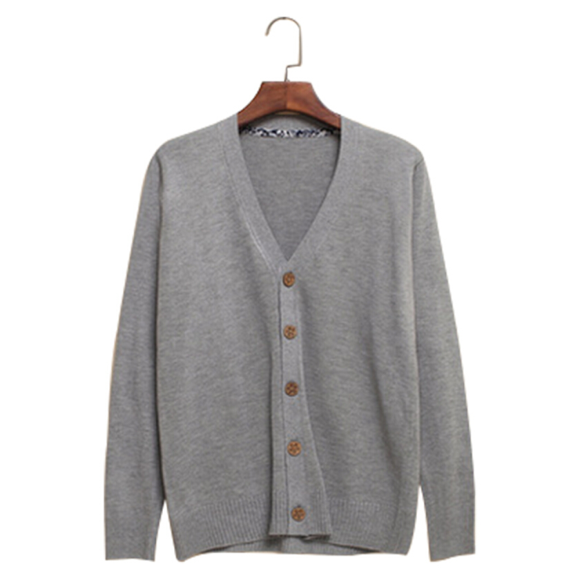 The new men's fashion V-neck knit cardigan coat buttons