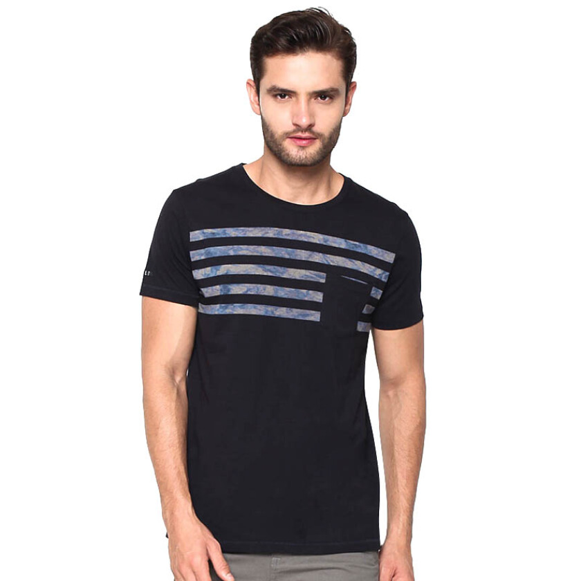 GREENLIGHT Pocket Striped Basic Tee - Blue [S]
