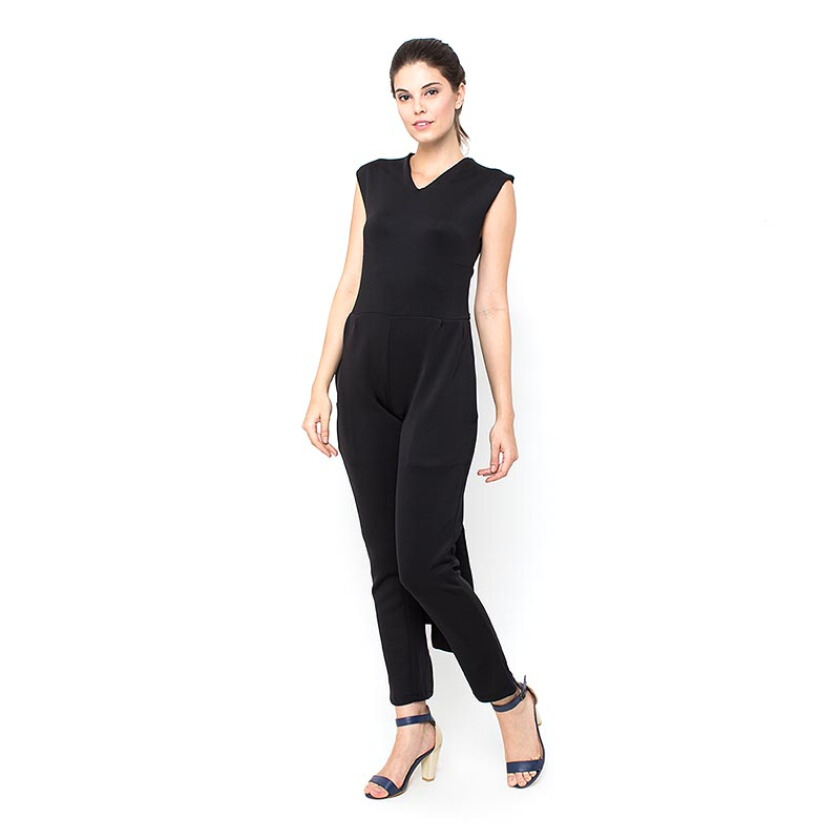 Shop At Banana Tying Jumpsuit - Black [One Size]