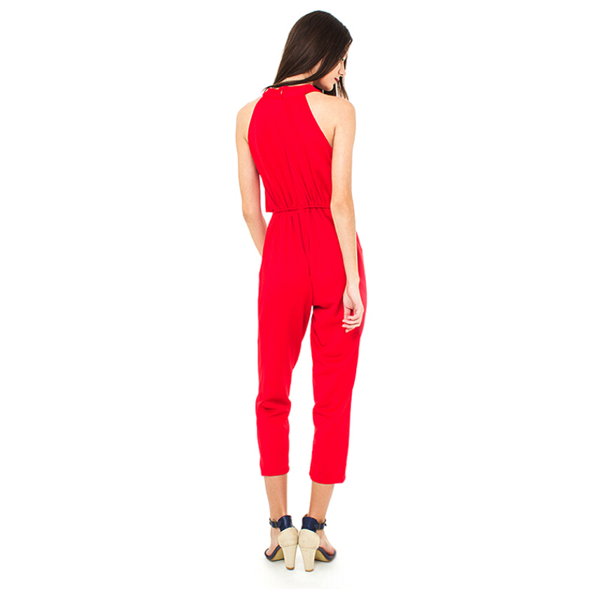 Shop At Banana Tiffany Jumpsuit - Red [One Size]