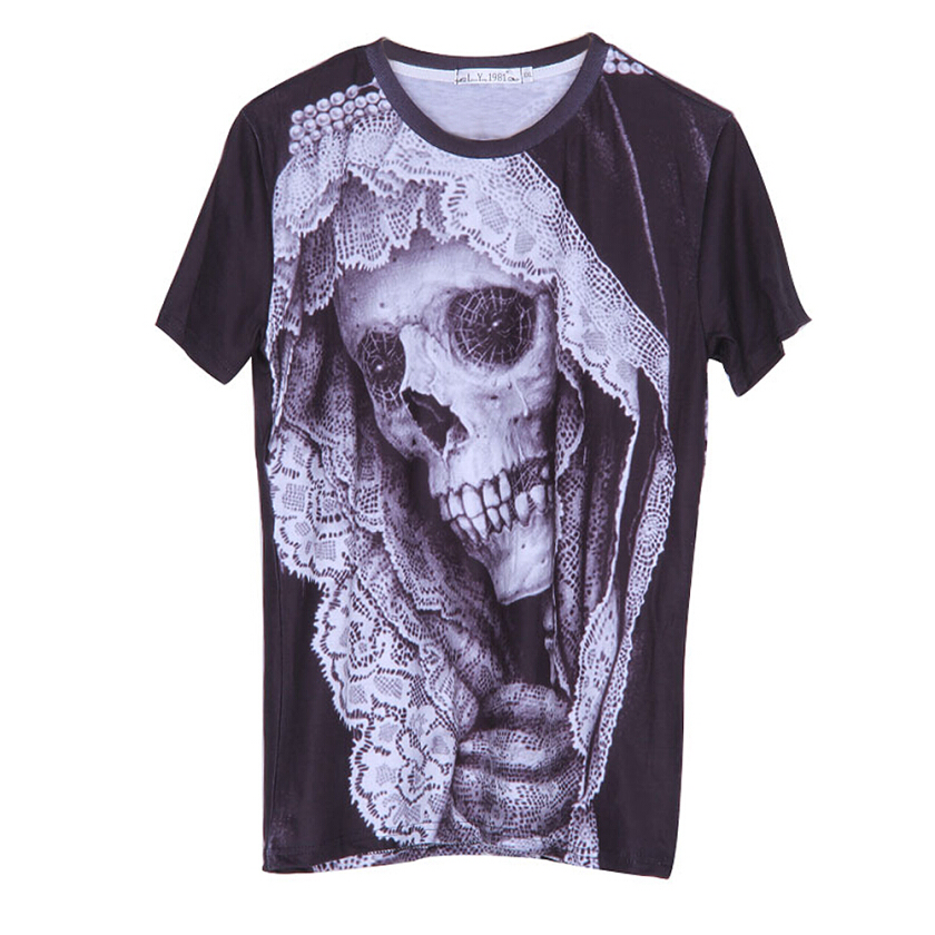 3D printing new men's fashion T-shirt
