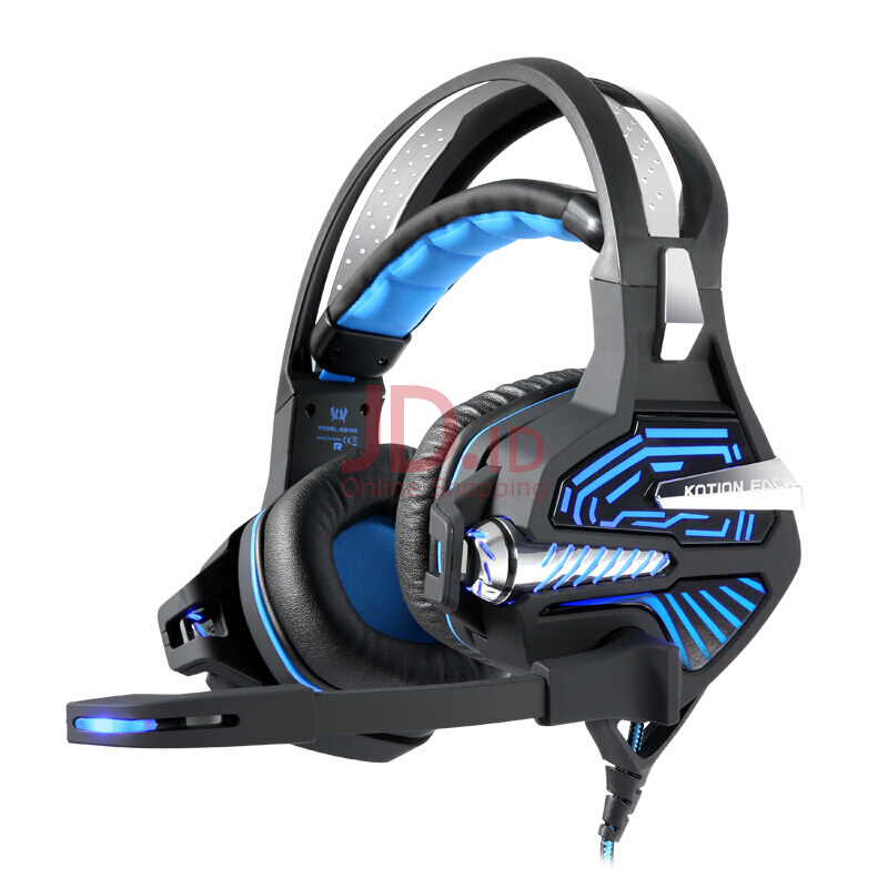 harga KOTION EACH GS100 Headset gaming 7.1 Shocking headphones Notebook desktop computer headset with microphone bass black blue Jd.id